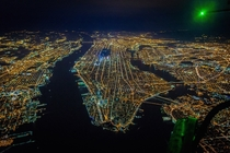 Gotham K - A rare high altitude night flight above NYC produces some great photos  x-post rcyberpunk more in comments