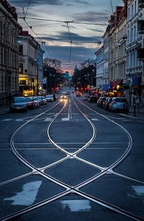 Gothenburg tram line Sweden