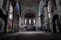 Graffiti covered but still beautiful - St Boniface Church in Chicago IL