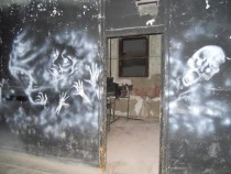 Graffiti from Waverly Hills Sanatorium in Louisville Kentucky