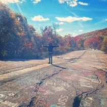 Graffiti Highway in Centralia Its a shame theyll be burying it with dirt  Soon to be gone with the rest of the town