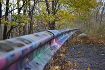 Graffiti highway in Centralia PA Just recently theyve announced they will be burying whats left of the highway in dirt and closing it down for good