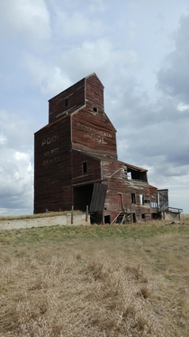 Grain Elevator in the ghost town of Bents Saskatchewan