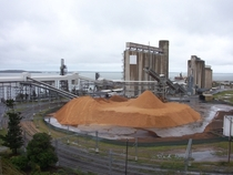 Grain storage silos in Queensland Australia