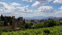 Granada Spain as seen from the Alhambra Calat Alhambra - The Red Palace