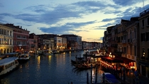 Grand Canal view from Ponte di Rialto Venice