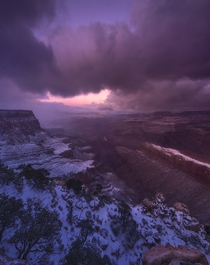 Grand Canyon after winter storm on Christmas Day