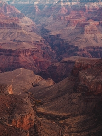 Grand Canyon shortly after sunrise
