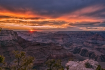 Grand Canyon sunset on the summer solstice