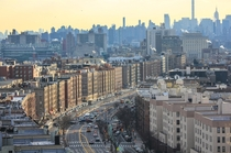 Grand Concourse in the Bronx looking south towards Manhattan