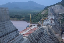 Grand Ethiopian Renaissance Dam under construction