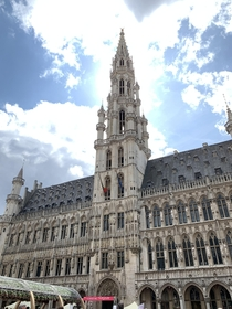 Grand-Place of Brussels Town Hall of Brussels photographed designed by Jacob van Thienen and Jan van Ruysbroek