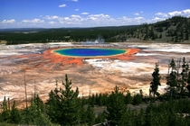 Grand Prismatic Spring at Yellowstone National Park Taken by Mila Zinkova