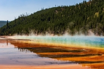 Grand Prismatic Spring Yellowstone National Park this past summer  x