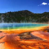 Grand Prismatic Spring Yellowstone National Park Wyoming USA