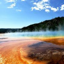 Grand Prismatic Springs in Yellowstone WY