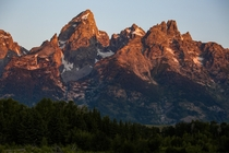 Grand Teton at sunrise looks like crispy chicken