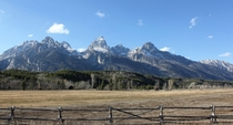 Grand Teton in Wyoming stands at  ft and its even more picturesque in person