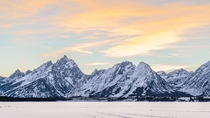 Grand Teton Mountain in January
