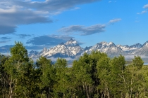 Grand Teton national park Wyoming Took this picture as we were heading into Yellowstone