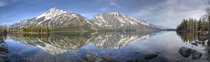 Grand Tetons from Jenny Lake  X