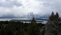 Grand Tetons National Park Wyoming - Snowstorm Approaching Jenny Lake