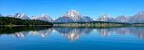 Grand Tetons over Jenny Lake