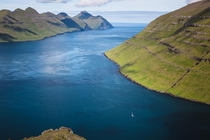 Grandiose landscape of Faroe Islands