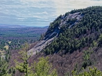 Granite slopes of White Horse Ledge New Hampshire