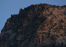 Granite Textures at Sunset after a long hike into the Trinity Alps of CA  seanaimages