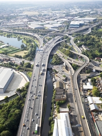 Gravelly Hill Interchange AKA Spaghetti Junction in Birmingham England