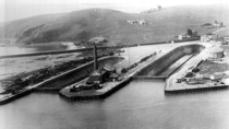 Graving docks at Hunters Point Naval Shipyard San Francisco c