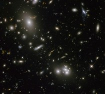 Gravitational Lensing around Abell  from Hubble