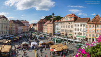 Graz Old Twon Main Square looks since  years like this