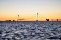Great Belt Bridge Denmark Sunset taken from yacht