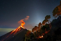Great Conjunction of Jupiter and Saturn seen in Guatemala Photo Francisco Sojuel