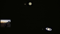 Great Conjunction on Dec st  is on the way These two planets are coming closer I took this picture last night Dec th from my backyard I did show this as a live event to my audience I will leave a link in the comments if you are interested