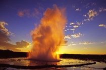 Great Fountain Geyser at Yellowstone  Photographer Unknown