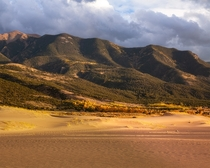 Great Sand Dunes National Park in Autumn CO