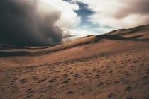 Great Sand Dunes NP CO as a storm rolls in