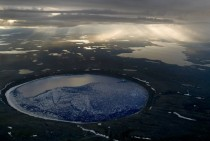 Great shot of the Pingualuit crater in Qubec Canada