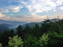 Great Smoky Mountains at dusk Gatlinburg TN