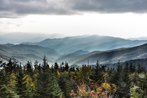Great Smoky Mountains From Clingmans Dome