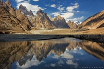 Great Trango m Cathedral Tower m and Lobsang Spire m - Baltoro Range Gilgit-Baltistan Pakistan  by Rizwan Saddique