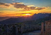 Great Wall of China Sunset x-post from rEarthPorn