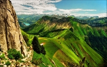 Green Velvet The mountain valleys of Switzerland  by Katarina Stefanovic