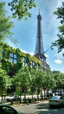 Green Wall by the Eiffel tower