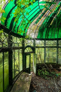 Greenhouse room that was connected to an abandoned victorian style mansion originally built in the late s