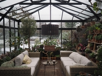 Greenhouse with sitting area Denmark
