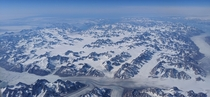 Greenland as seen from the airplane